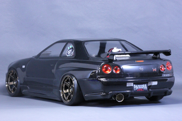 nissan skyline r34 gtr 1 10 body set pandora pab 131 super g r c