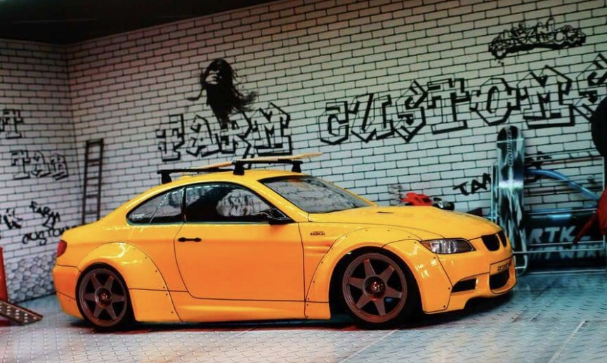 Bmw M3 E92 Liberty Walk Widebody 1 10 Body Set Hot Tab Super G R