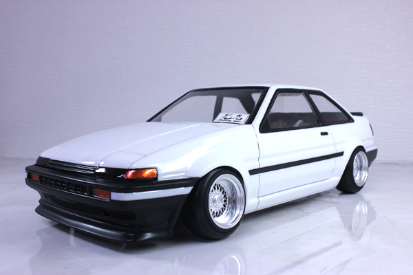 toyota corolla trueno pop up lights ae86 coupe 1 10 body. Black Bedroom Furniture Sets. Home Design Ideas