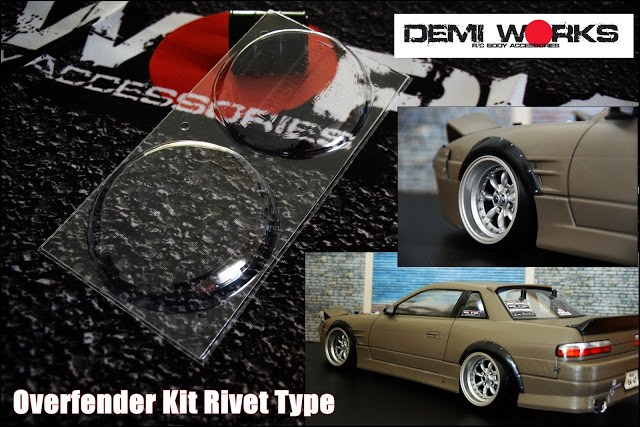 Rivert Type A 1/10 Universal Fender Flares / Widebody [Demi Works] DWUFS-A