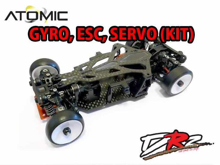 Atomic RC - DRZ 1/27 RWD Drift Car Kit (w/ Gyro, Servo, ESC) [ Mini-Z Size  ] DRZ-GSE